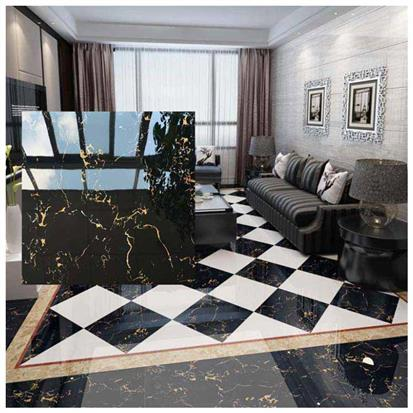 Black Polished Ceramic Floor Tile 600 x 600mm HS619GN
