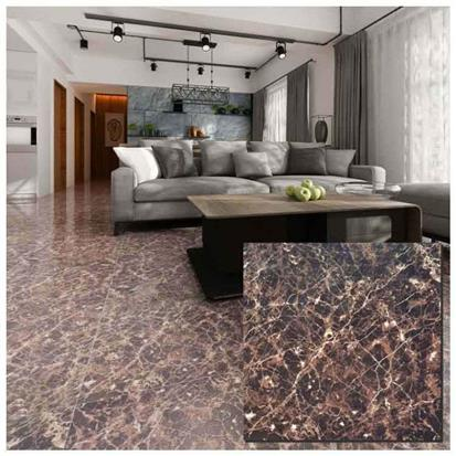 Brown Polished Ceramic Floor Tile 600 x 600mm HS622GN