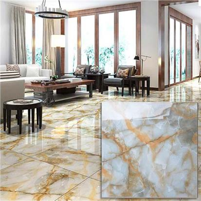 White Polished Ceramic Floor Tile 600 x 600mm HS633GN