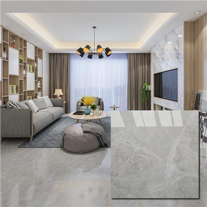 Grey Polished Ceramic Floor Tile 600 x 600mm HS6401PQ