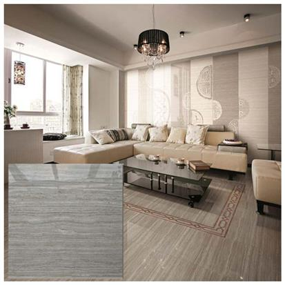 Grey Polished Ceramic Floor Tile 600 x 600mm HS651GN