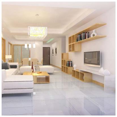 White Polished Ceramic Floor Tile 600 x 600mm HS679GN