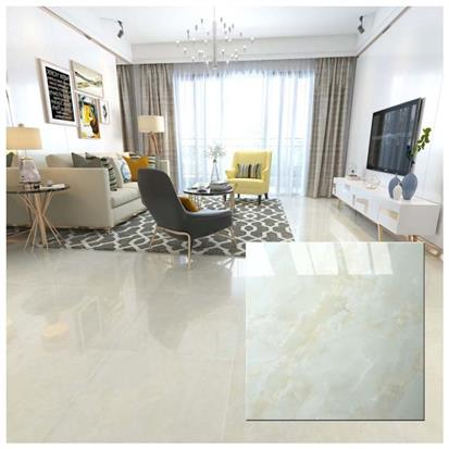 White Polished Porcelain Floor Tile 600 x 600mm HS825GN