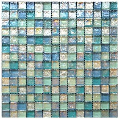 Coloured Polished Glass Mosaic Tile 300 x 300mm HSJ017