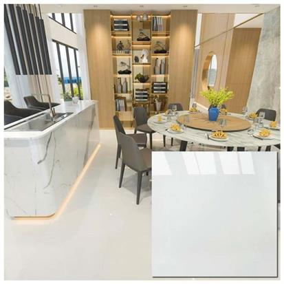 White Polished Ceramic Floor Tile 600 x 600mm HXJX601P