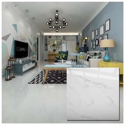 White Polished Ceramic Floor Tile 600 x 600mm HYH6039