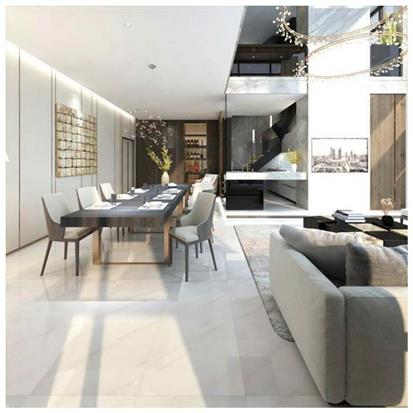 White Polished Porcelain Floor Tile 600 x 600mm HYH603GN