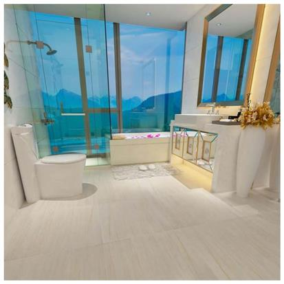 Beige Polished Porcelain Floor Tile 600 x 600mm HYH6077PA