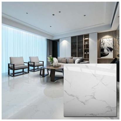 White Polished Ceramic Floor Tile 600 x 600mm HYH6104