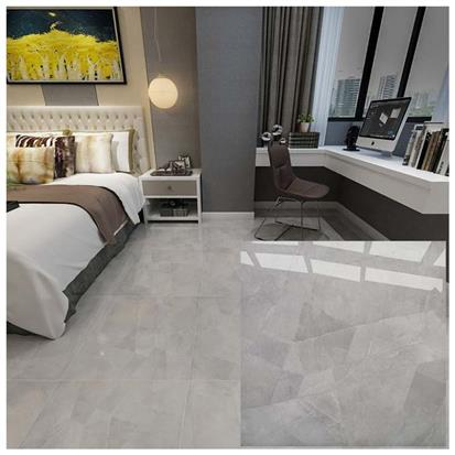 Grey Polished Ceramic Floor Tile 600 x 600mm HYH6186
