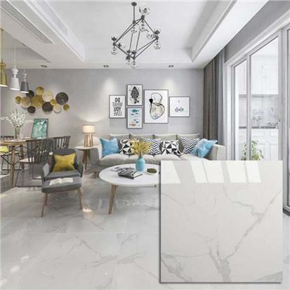 White Polished Porcelain Floor Tile 600 x 600mm HYH6260PA