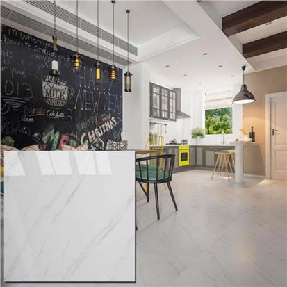 White Polished Ceramic Floor Tile 600 x 600mm HYH8019PA