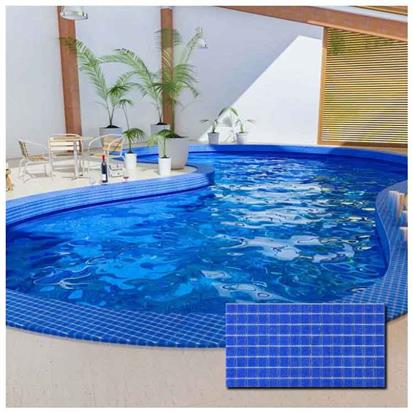 Blue Polished Ceramic Tile 300 x 300mm LA36
