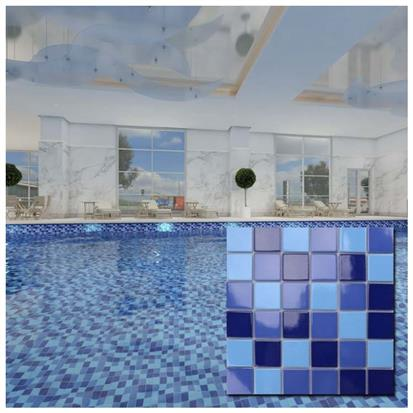 Blue Polished Ceramic Wall Tile 300 x 300mm MD002T