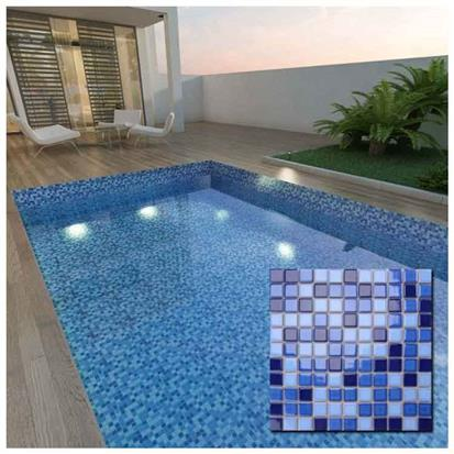 Blue Polished Ceramic Tile 300 x 300mm MD018T