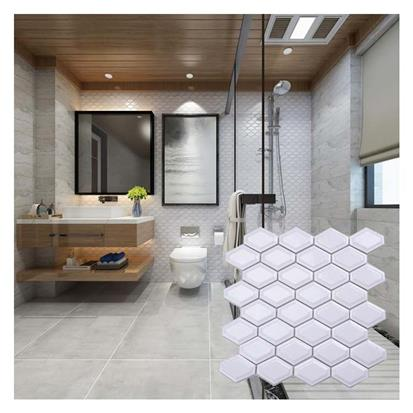 White Marble Mosaic Wall Tile 300 x 300mm MD024T