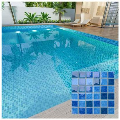 Blue Polished Ceramic Tile 300 x 300mm MD032T