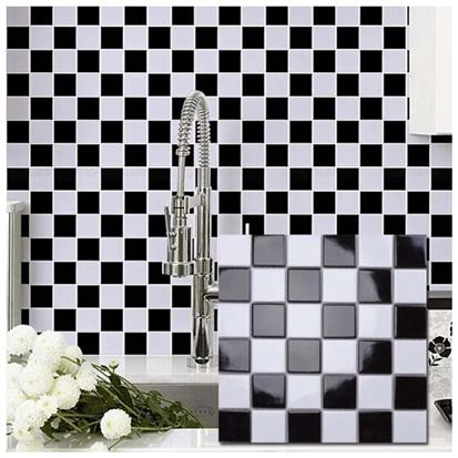 Black and White Ceramic Mosaic Tile 300 x 300mm MD053T