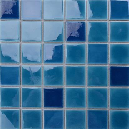 Blue Polished Ceramic Wall Tile 300 x 300mm MD061T
