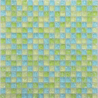 Green Polished Glass Mosaic Tile 300 x 300mm PY027