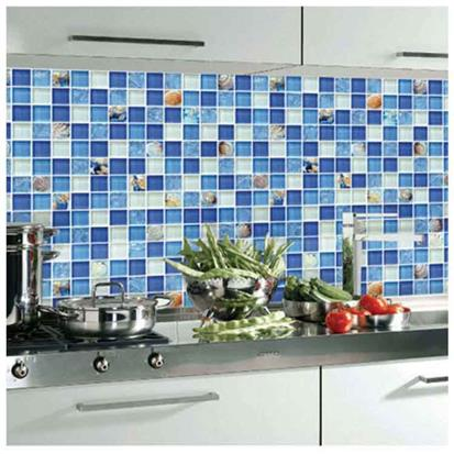 Blue Glass Mosaic Tile 300 x 300mm PY039