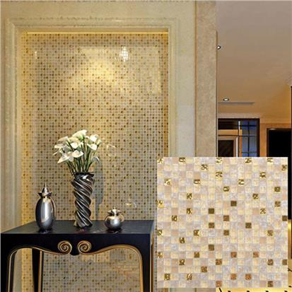 Beige Glass Mosaic Tile 300 x 300mm SD002