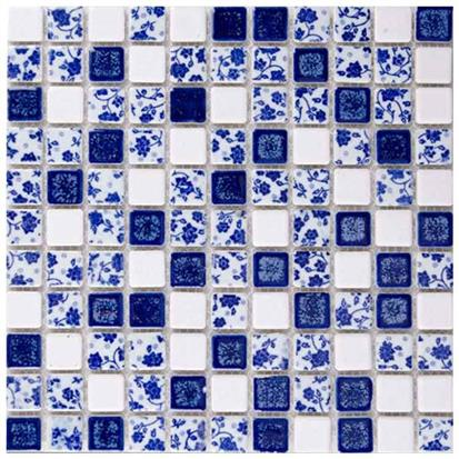 Blue Ceramic Mosaic Tile 300 x 300mm TC2510