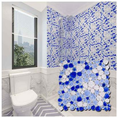 Blue Polished Ceramic Tile 300 x 300mm TM1008