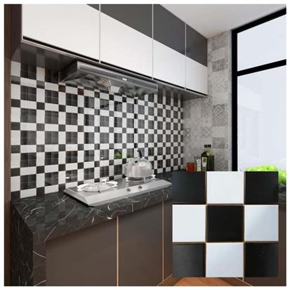 Black Ceramic Mosaic Tile 300 x 300mm YPNQH8991