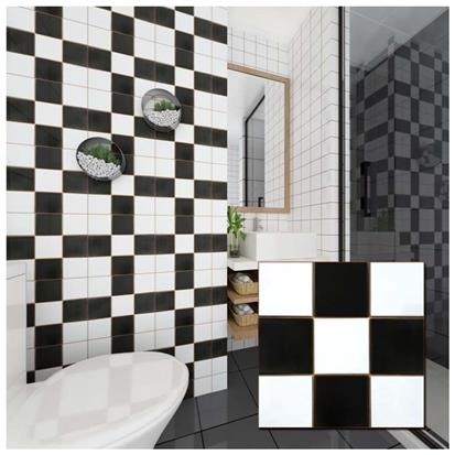Black Polished Ceramic Tile 300 x 300mm YPNQH8992