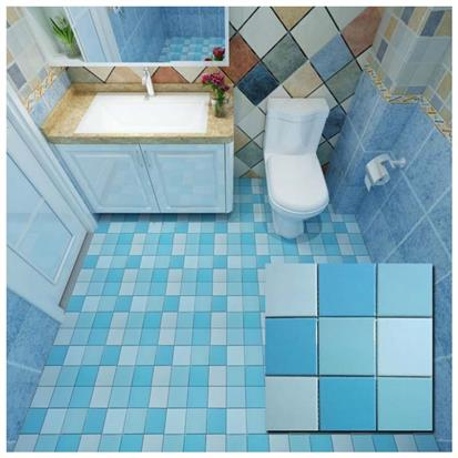 Blue Polished Ceramic Wall Tile 300 x 300mm YPTLNQ8666