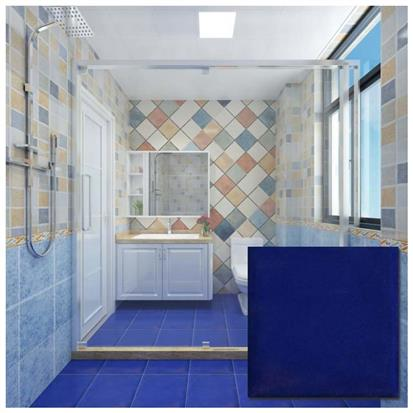Blue Polished Ceramic Floor Tile 300 x 300mm YPYC8007