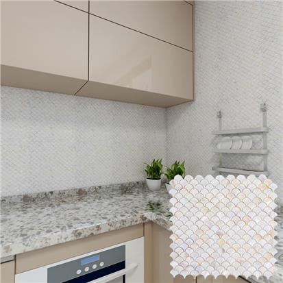 White Polished Ceramic Tile 300 x 300mm YQ1073
