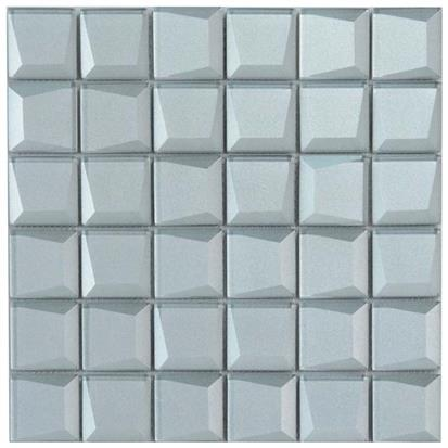 Blue Polished Glass Mosaic Tile 300 x 300mm YQ1091