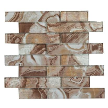 Brown Polished Ceramic Tile 300 x 300mm YQ1098