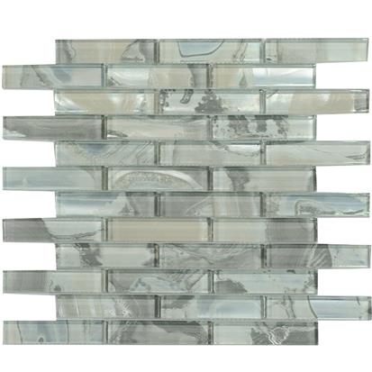Green Polished Glass Mosaic Tile 300 x 300mm YQ1108