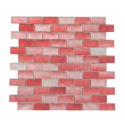 Red Polished Glass Mosaic Tile 300 x 300mm YQ1111