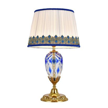 Hanse Malachite Blue Crystal Table Lamp  HS-8216T-1B