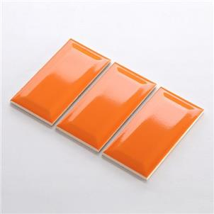 Orange Glossy Ceramic Tile 75 x 150mm 751509X