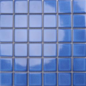 Blue Glazed Ceramic Tile Customized Size MD013T