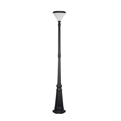 Modern landscape single head solar powered post lighting  HS-ZC-ZTD2204-2