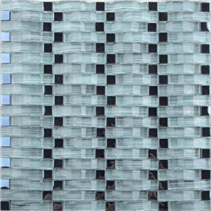 Blue Glazed Glass Mosaic Tile Customized Size PY006