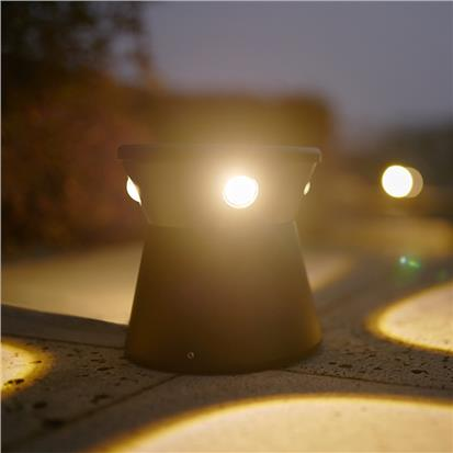 Black contemporary garden outdoor led landscape light  HS-CP7014