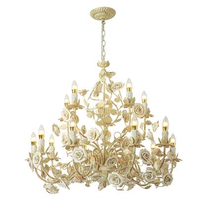 Hanse Platinum White Rose Gold Chandelier  HS-ART9018