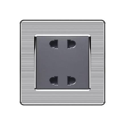 10A double 2 pole electrical power socket  F62 10A double 2 pole socket