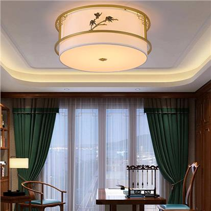 Hanse Embossed Dragonfly and Swallows Barrel Shaped Ceiling Light  HMY007-1 round