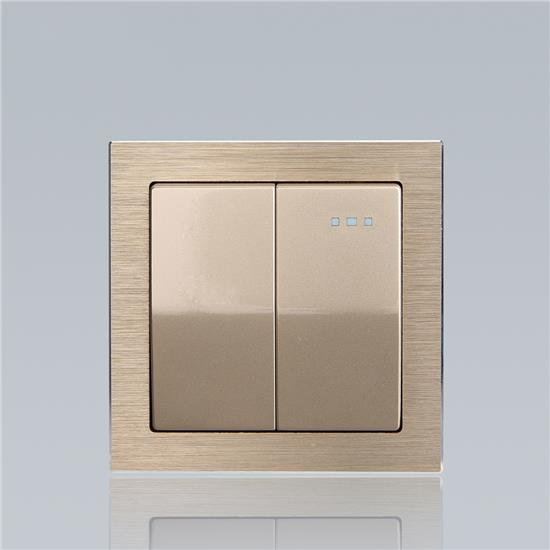 wall mounted recessed double pole warm light control switch  HS-BM21