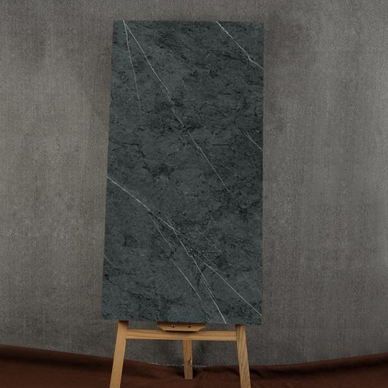 Black Glazed Artificial Stone Tile Customized Size HKP715213