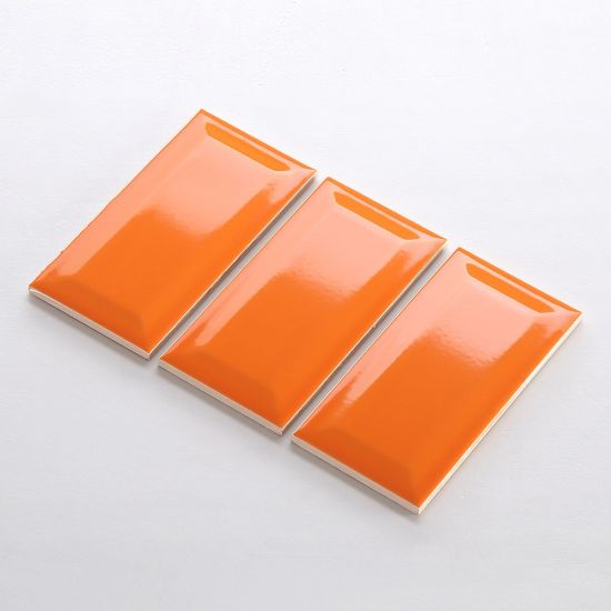Orange Glossy Ceramic Tile