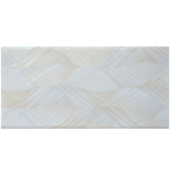 White Glazed Ceramic Tile Customized Size HM3843LA